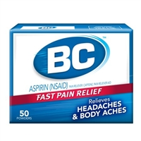 BC PAIN RELIEF ASPIRIN POWDER 50 CT