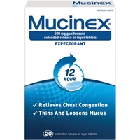 MUCINEX 12 HOUR 20 CT