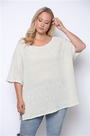 TAN JERSEY KNITWEAR PLUS SIZE TOP  B5350X