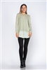 OLIVE SHIFT TUNIC TOP  TY2229