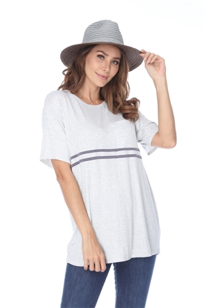 TT2734 GREY T-SHIRT TOP