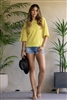 YELLOW BACK BOW TIE KNIT TOP TT1877