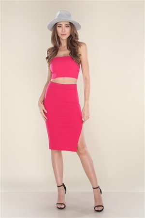 HOT PINK TWO PIECE SET 11585