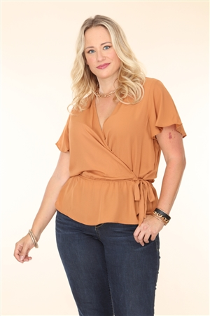AMBER PLUS SIZE TOP  T2183XV