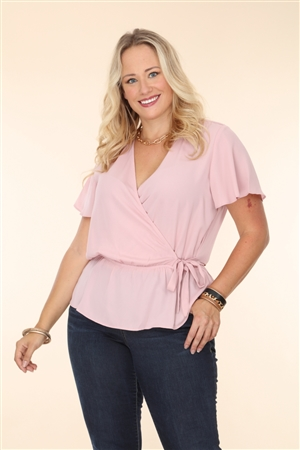 BLUSH PLUS SIZE TOP  T2183XV