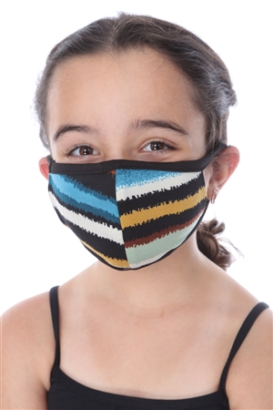 KIDS MASK-202 MULTI COLORS PRINT  SW672
