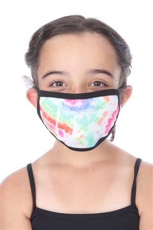 MULTI COLOR TIE-DYE PRINT KIDS FACE MASK  SW1042