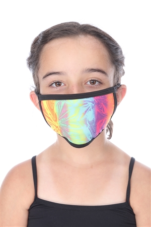TWILIGHT TIE-DYE PRINT KIDS FACE MASK  SW1043