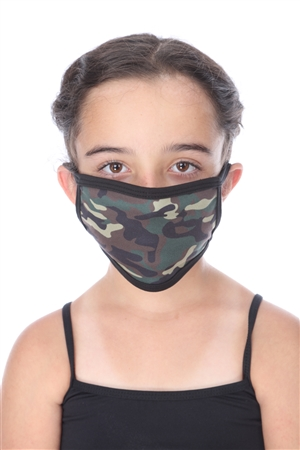 SW1044 ARMY PRINT KIDS FACE MASK