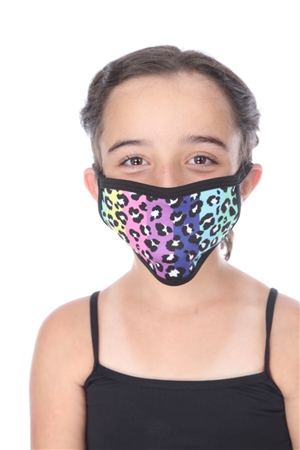 MULTI COLOR STRIPE CHEETAH PRINTKIDS FACE MASK  SW1047