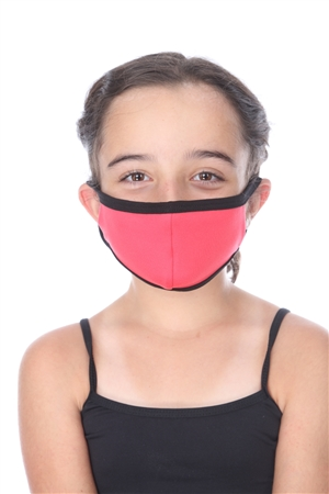 SW1053 FUCHSIA SOLID COLOR KIDS FACE MASK