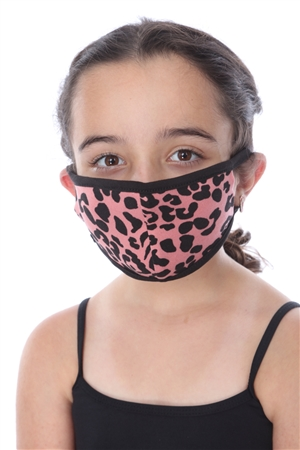 KIDS MASK-202 OLD ROSE ANIMAL PRINT  SW668