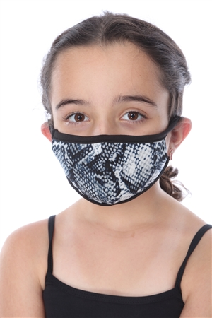 KIDS MASK-202 GREY SNAKE PRINT  SW670