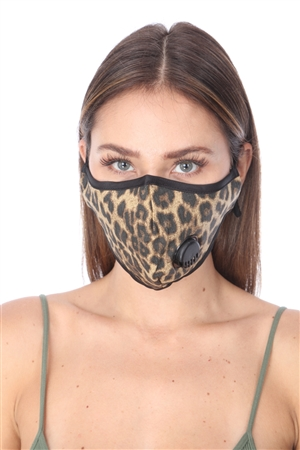 LEOPARD PRINT FILTER FACE MASK  SW694