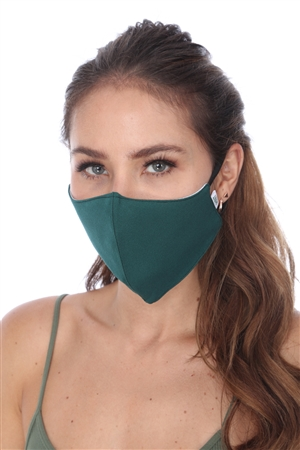 SW934 GREEN SOLID COLOR FACE MASK
