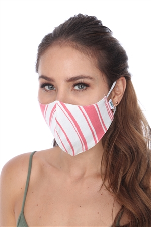 SW950 PINK WHITE STRIPE FACE MASK
