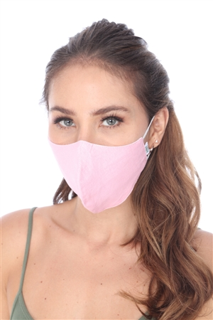 SW954 PINK S0OLID COLOR FACE MASK