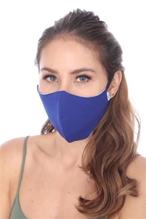 ROYAL BLUE SOLID COLOR FACE MASK  SW998