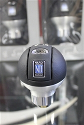 NARDI ORBIT Black Leather/Aluminum Finish Round Ball Type