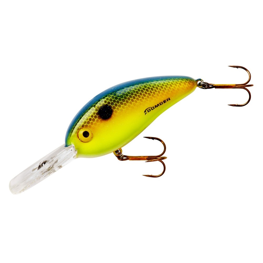 """3//4 oz 3/"""" Square lip - Two Great Colors 2 Bomber Deep Fat Free Shad"""