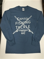 Capitol Fishing Tackle Company Famous Long Sleeve T-Shirt Light Blue