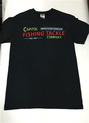 Capitol Fishing Tackle Famous Neon Sign T-Shirt Black