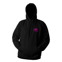 Grundens Eat Lobster Hooded Black/Pink Sweatshirts