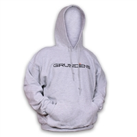 Grundens Logo Hooded Sweatshirt Ash Gray