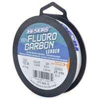 Hi-Seas 100% Fluorocarbon Leader 25 Yard Spool