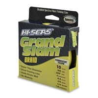 Hi-Seas Grand Slam Braid 300 Yard Spool - Fluorescent Yellow