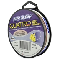 Hi-Seas Quattro 4 Color Camo Braid 150 Yard Filler Spool