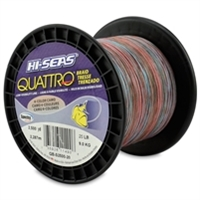 Hi-Seas Quattro 4 Color Camo Braid 2500 Yard Spool