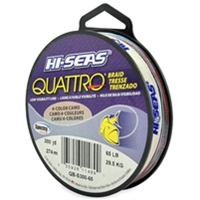 Hi-Seas Quattro 4 Color Camo Braid 300 Yard Filler Spool