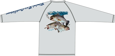 Bimini Bay Performance Shirt Striped Bass