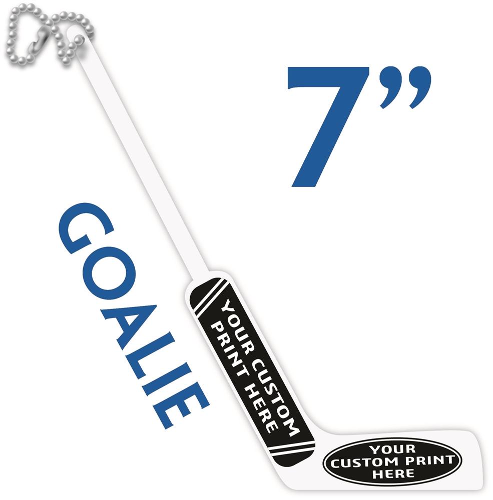 Small Goalie Stick Hockey Party Favor Hockey Swizzle Stick