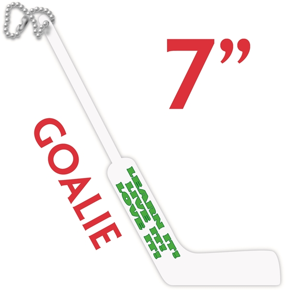 hockey stick key chain with txt added