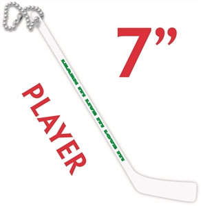 Wedding Favor Hockey Stick slogans are added to hockey stick key chains