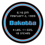 baby boy birth announcement hockey puck. What a unique idea to announce the birth of your baby. This is an official hockey puck, with a photo of your newborn. Give a special hockey birth announcement puck to show off your future pro.