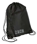 drawstring backpack black/black