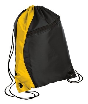 drawstring backpack gold/black