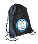 drawstring backpack navy/black