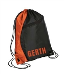 drawstring backpack orange/black