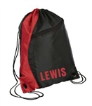 drawstring backpack red/black