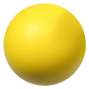 "yellow foam hockey ball 2.75"" - use this indoors instead of a hard hockey puck"