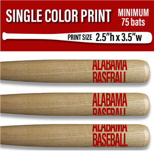 "Screen Printed 18"" MINI BASEBALL BAT - 75+ pieces"