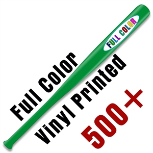 "Custom Vinyl Printed Natural or Colored 18"" Baseball Bat - 500 piece minimum - Full Color Print"