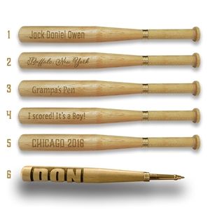 personalized baseball bat pens perfect gift for any baseball fan
