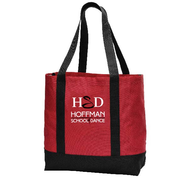 Hoffman Dance Day Tote color is red and handles are black