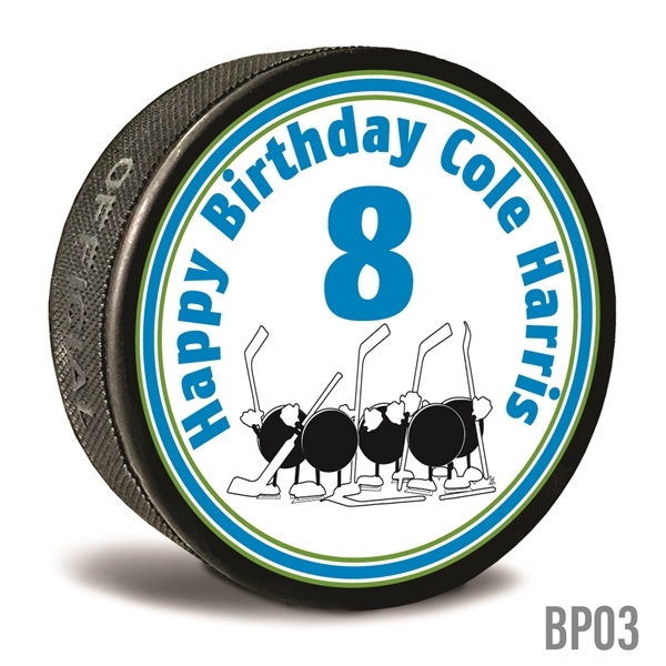 Brthday Party favor custom printed pucks