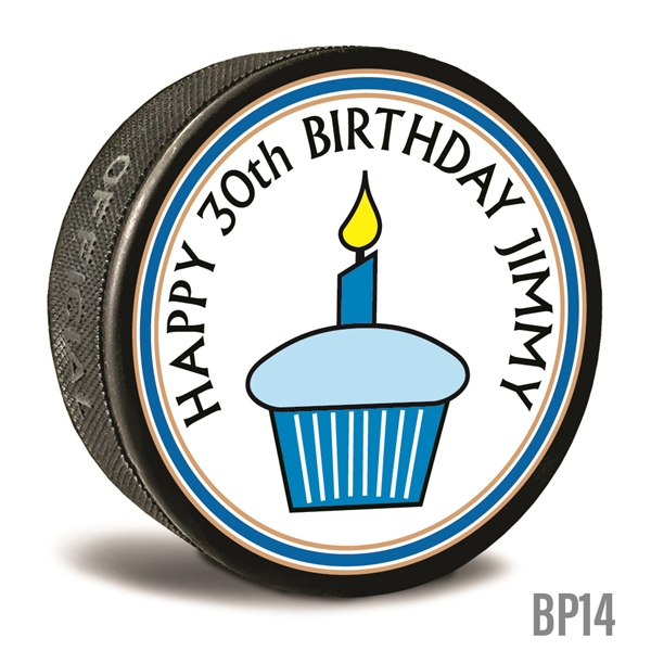 Personalized Birthday cupcake custom printed pucks